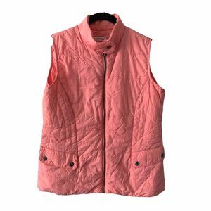 Northern Reflections Peach Zip Up Vest small